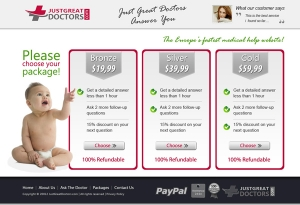 Just Greatc Doctors - Landing Page